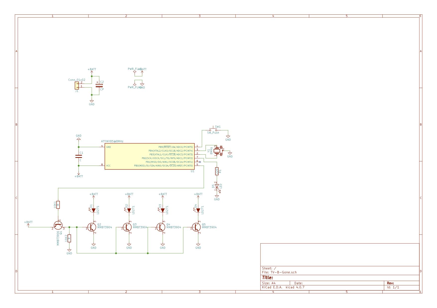 Tv B Gone Circuit Diagram Wiring Library Speckbert Elektronik Clone Als